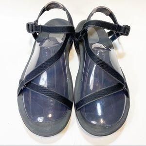 Teva Black Strap Velcro Sandals